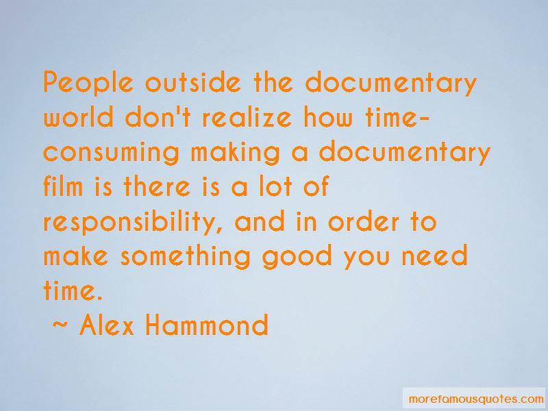 Alex Hammond Quotes