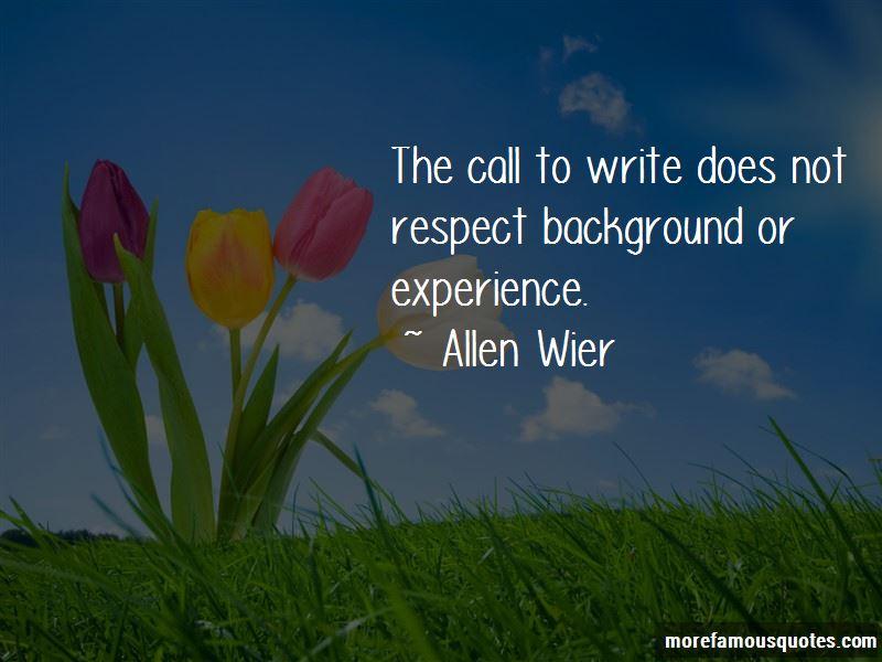 Allen Wier Quotes