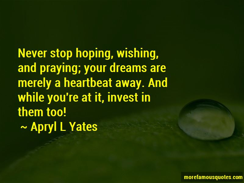 Apryl L Yates Quotes Pictures 2