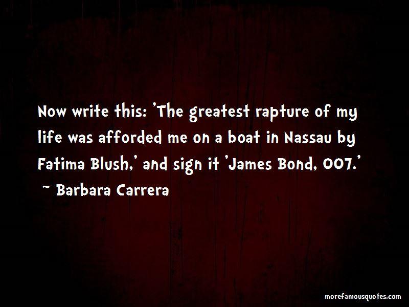 Barbara Carrera Quotes