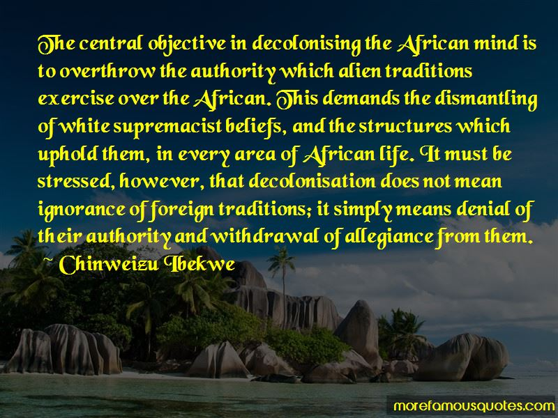 Chinweizu Ibekwe Quotes Pictures 2