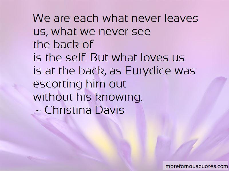 Christina Davis Quotes