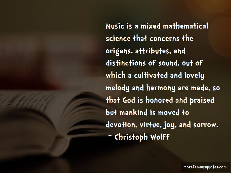 Christoph Wolff Quotes