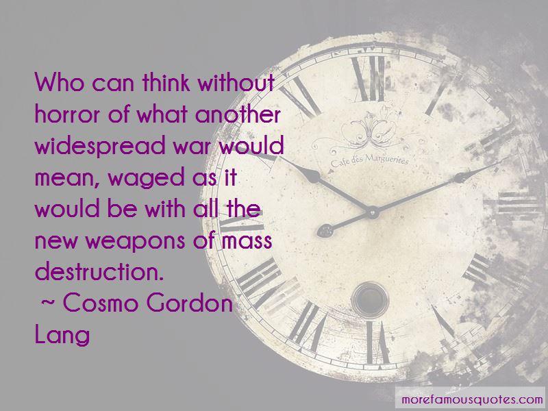 Cosmo Gordon Lang Quotes