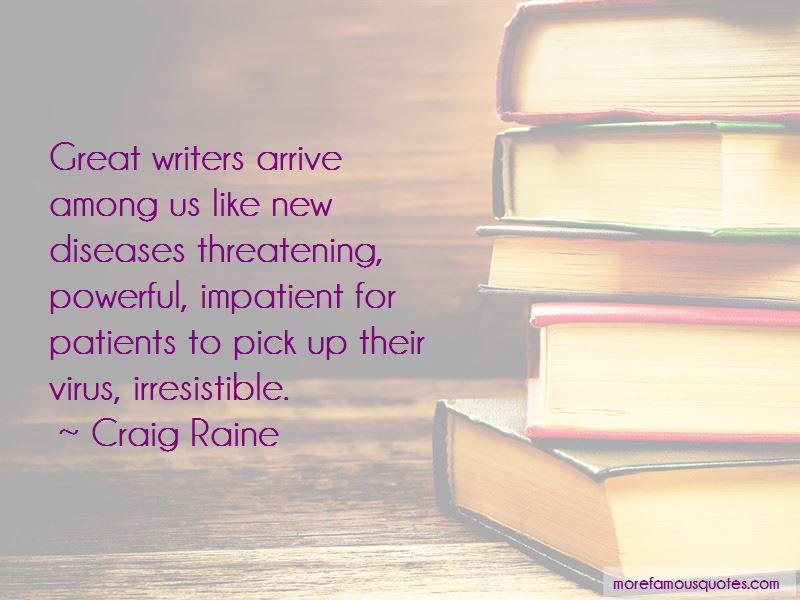 Craig Raine Quotes