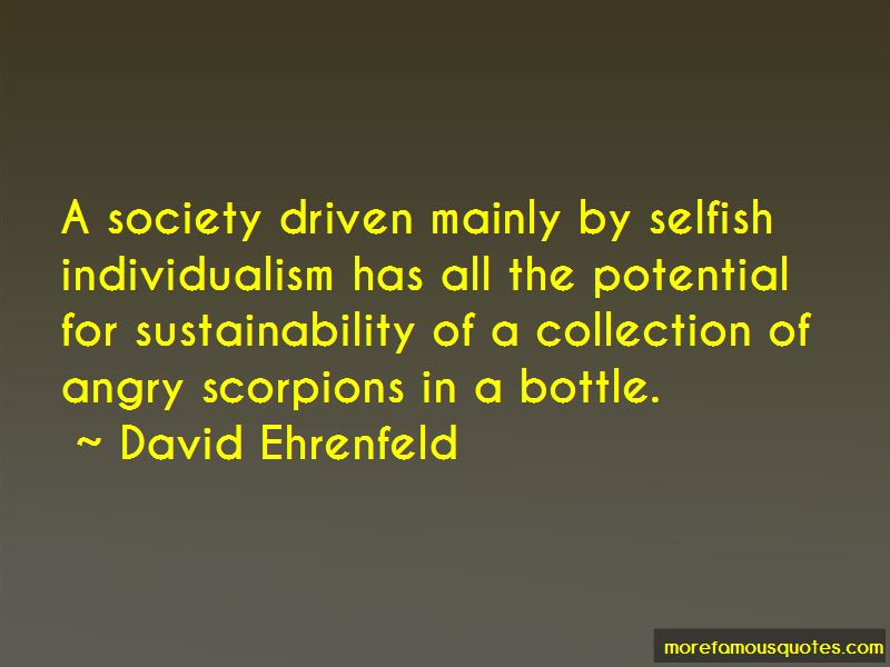 David Ehrenfeld Quotes