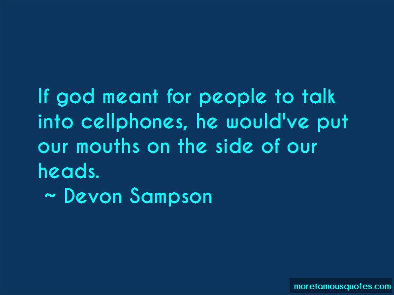 Devon Sampson Quotes