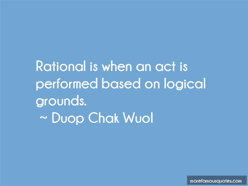 Duop Chak Wuol Quotes