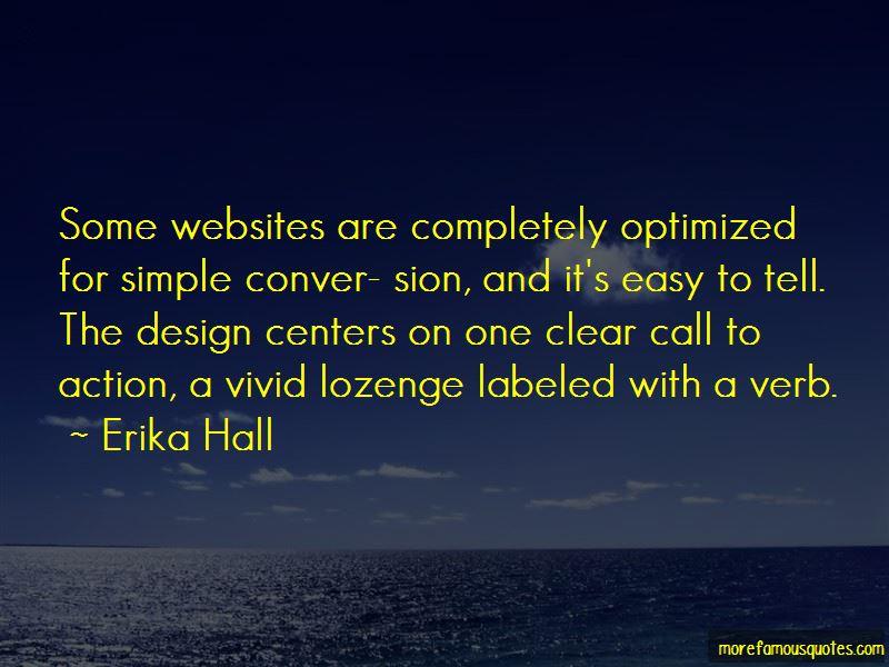 Erika Hall Quotes