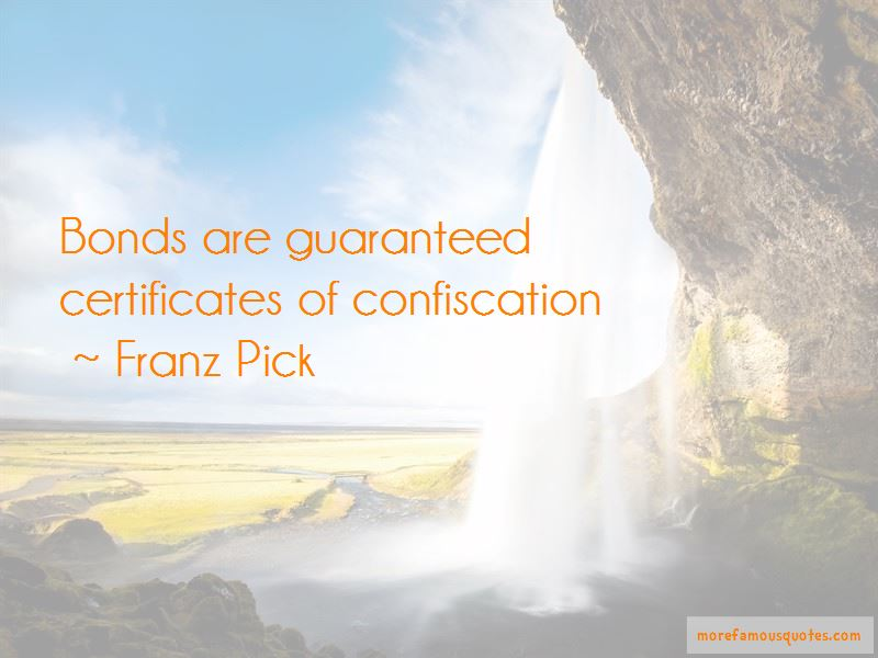 Franz Pick Quotes