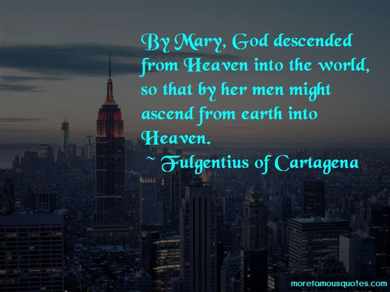 Fulgentius Of Cartagena Quotes