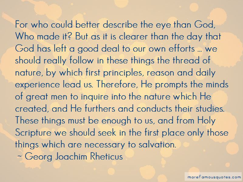 Georg Joachim Rheticus Quotes