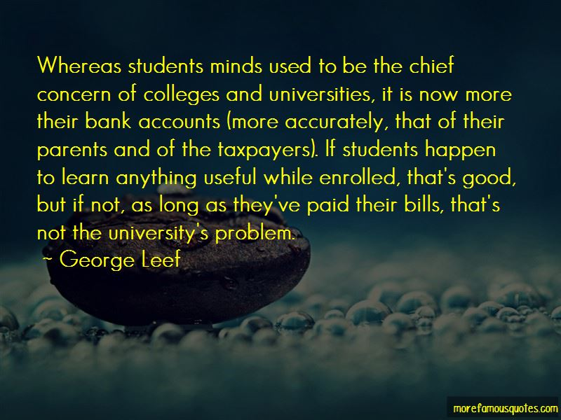 George Leef Quotes