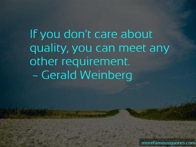 Gerald Weinberg Quotes