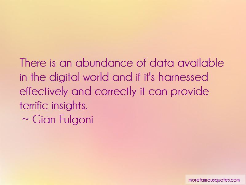 Gian Fulgoni Quotes Pictures 2