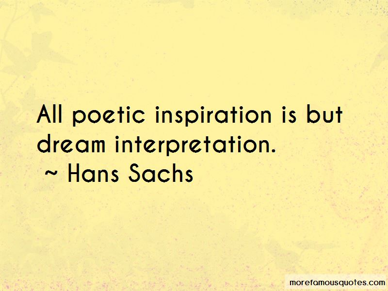 Hans Sachs Quotes
