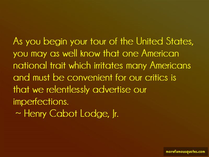 Henry Cabot Lodge, Jr. Quotes