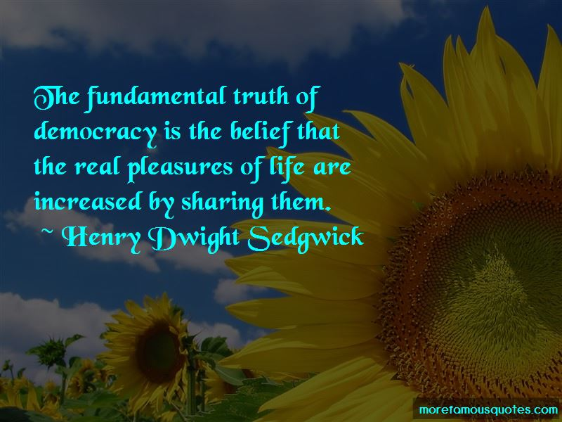 Henry Dwight Sedgwick Quotes
