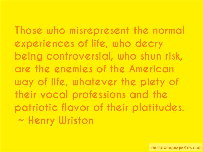 Henry Wriston Quotes