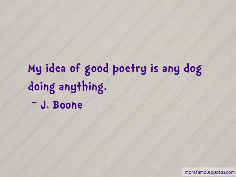 J. Boone Quotes