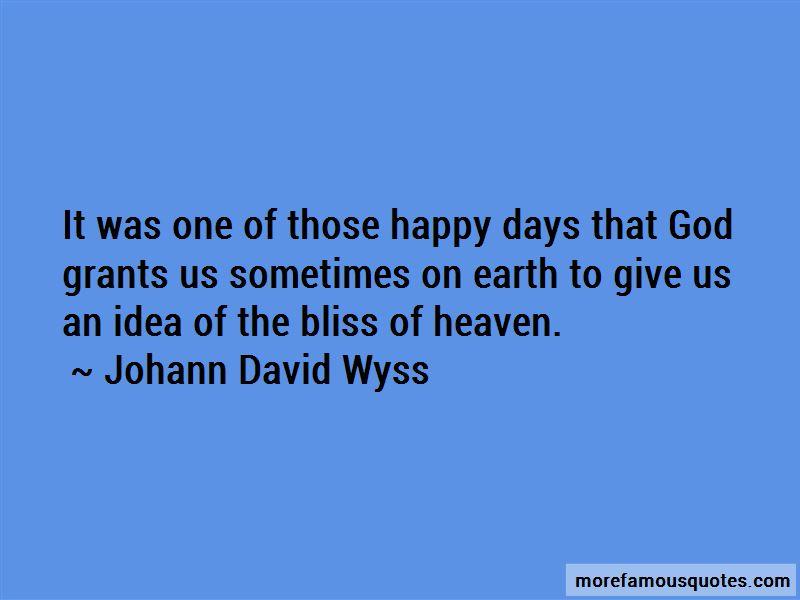 Johann David Wyss Quotes