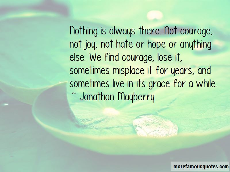 Jonathan Mayberry Quotes Pictures 3