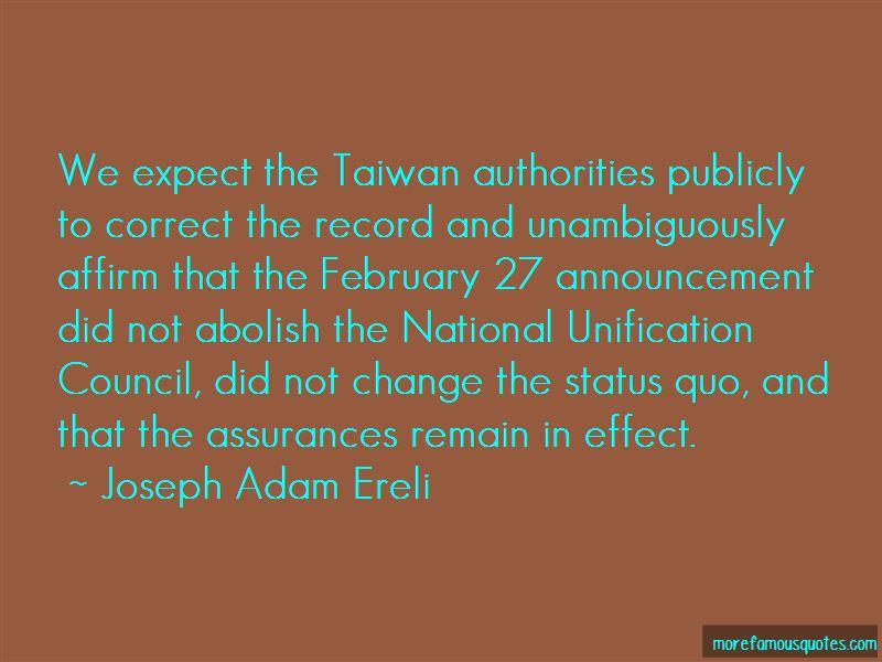 Joseph Adam Ereli Quotes