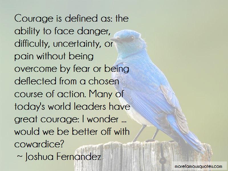 Joshua Fernandez Quotes