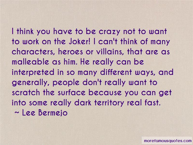 Lee Bermejo Quotes Pictures 3