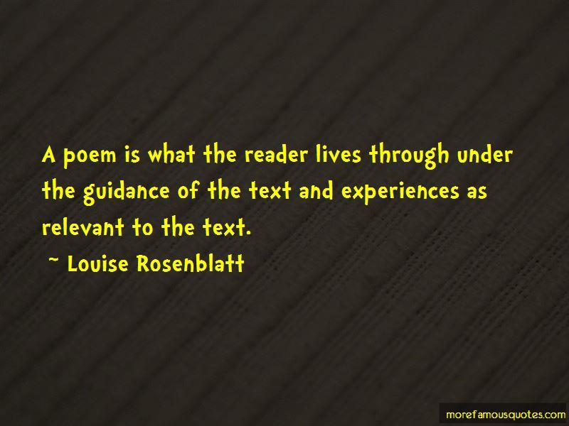 Louise Rosenblatt Quotes Pictures 3