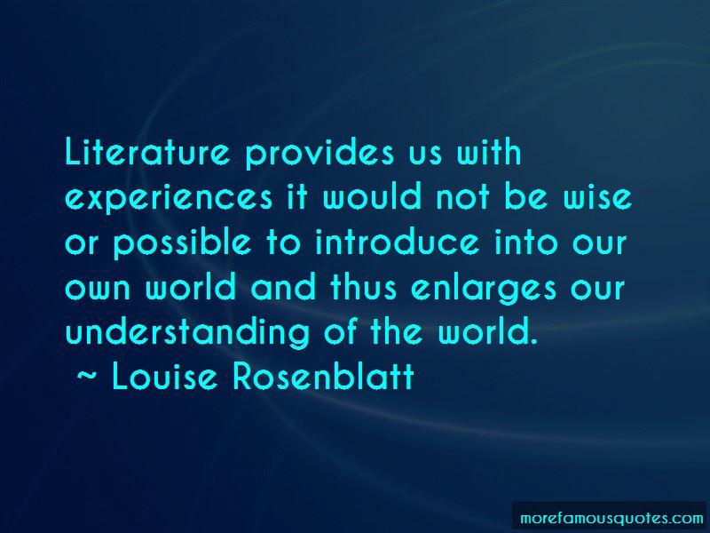 Louise Rosenblatt Quotes