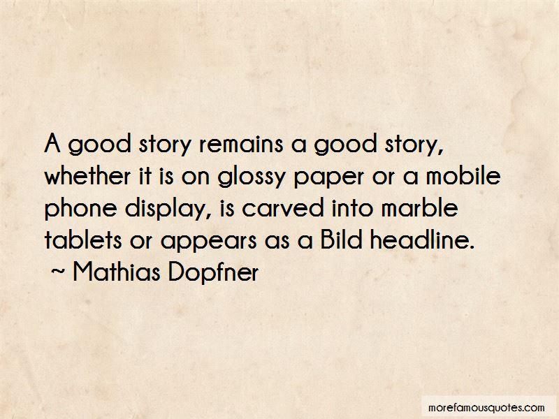 Mathias Dopfner Quotes Pictures 4
