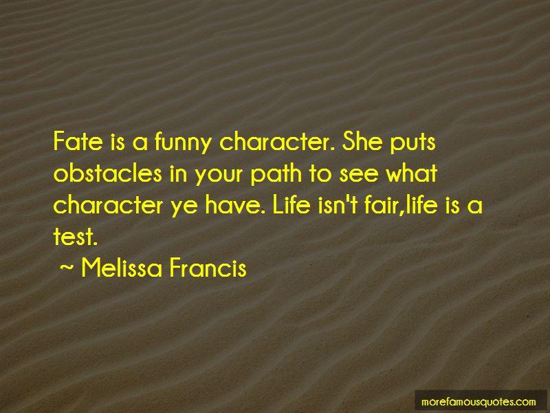 Melissa Francis Quotes