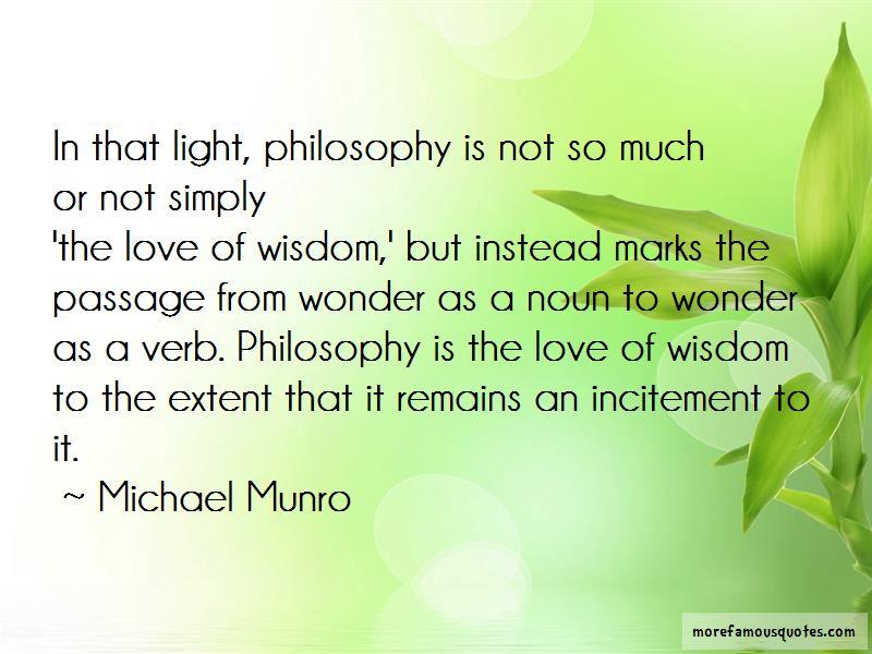 Michael Munro Quotes