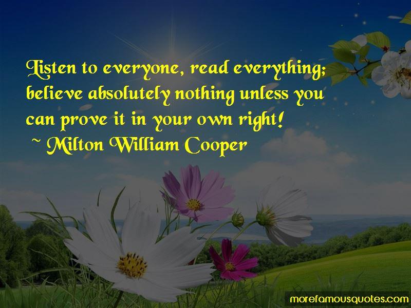 Milton William Cooper Quotes