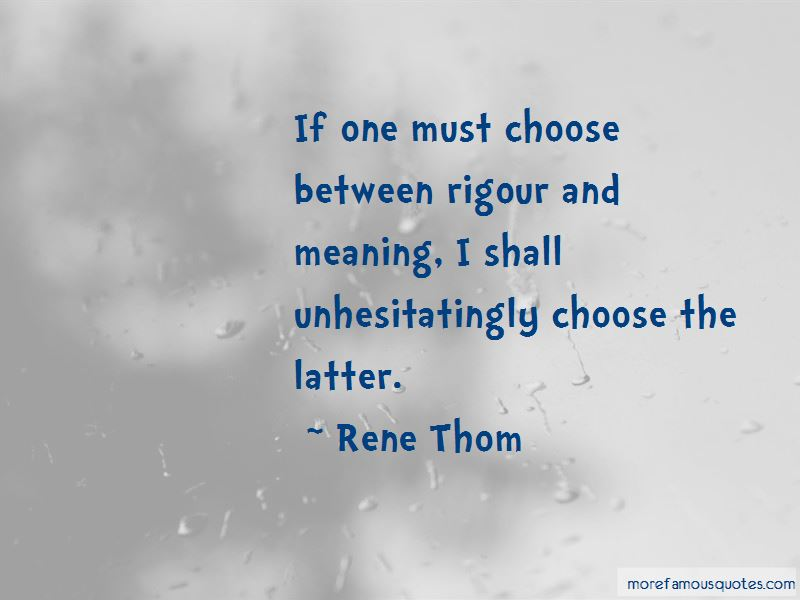 Rene Thom Quotes