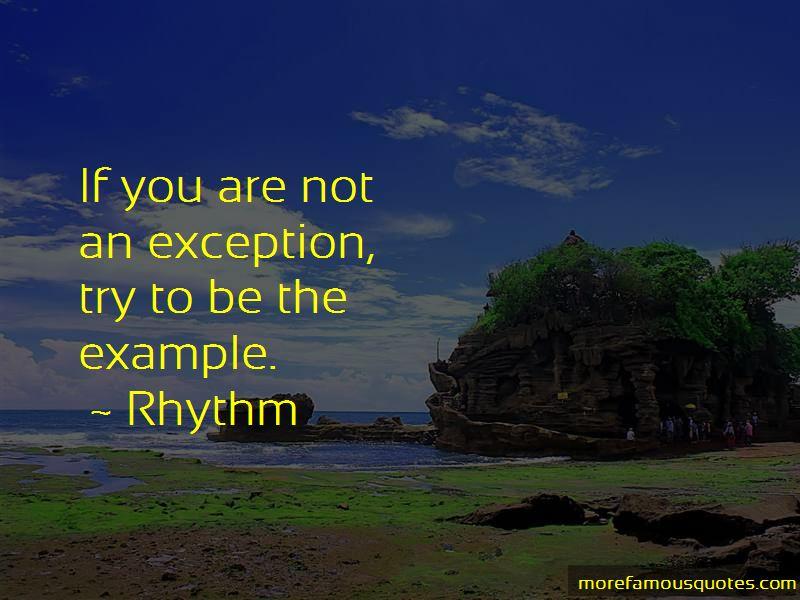Rhythm Quotes