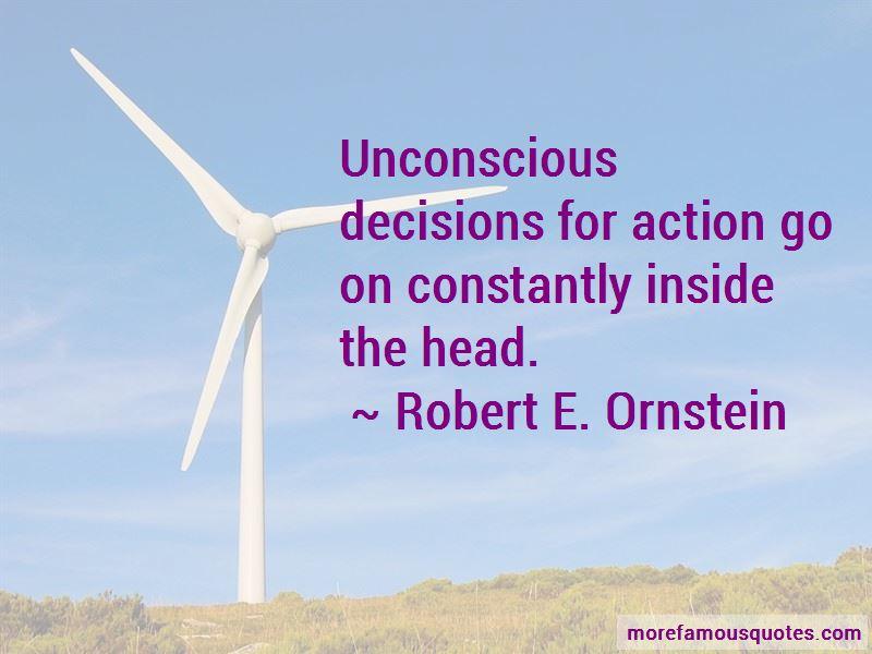 Robert E. Ornstein Quotes