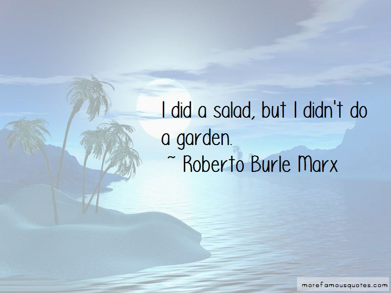 Roberto Burle Marx Quotes Pictures 2