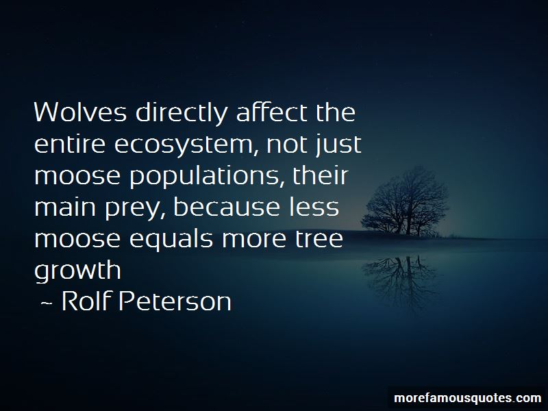 Rolf Peterson Quotes