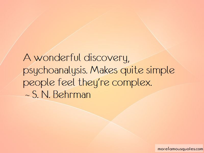 S. N. Behrman Quotes