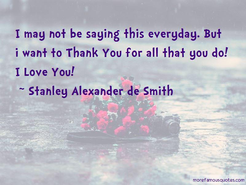 Stanley Alexander De Smith Quotes
