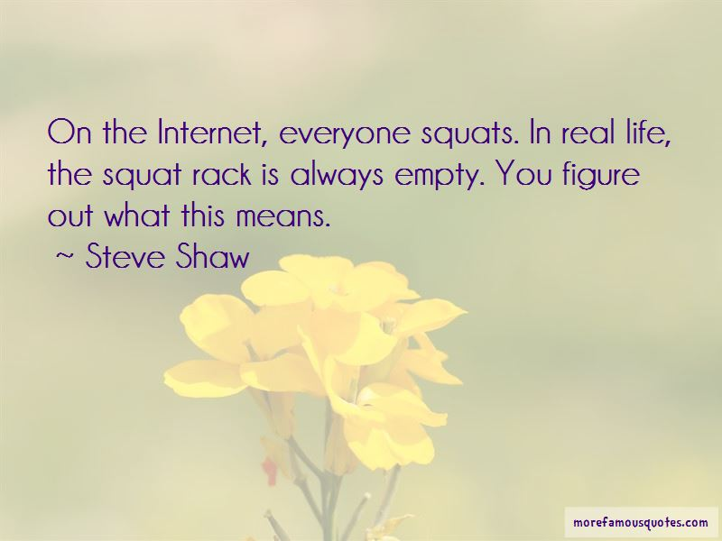 Steve Shaw Quotes