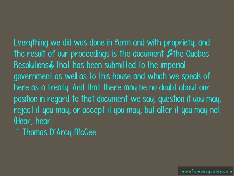 Thomas D'Arcy McGee Quotes