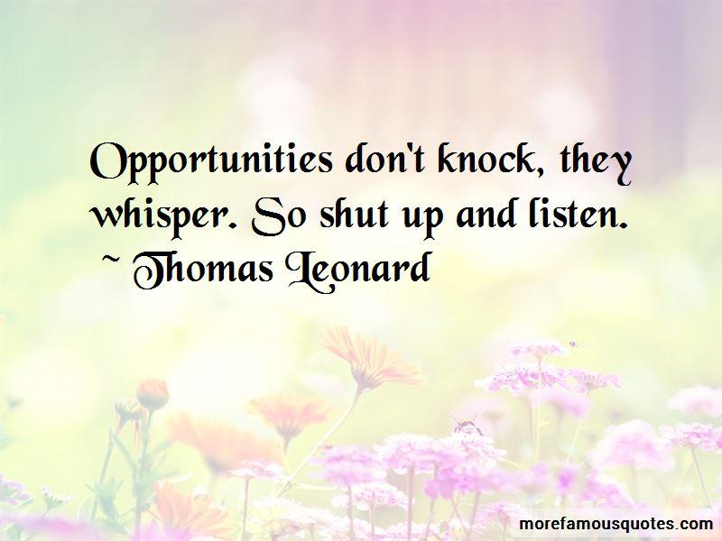 Thomas Leonard Quotes Pictures 4