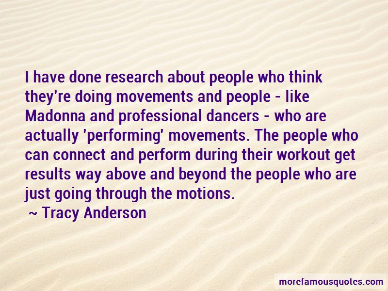 Tracy Anderson Quotes