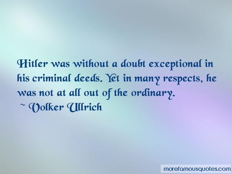 Volker Ullrich Quotes