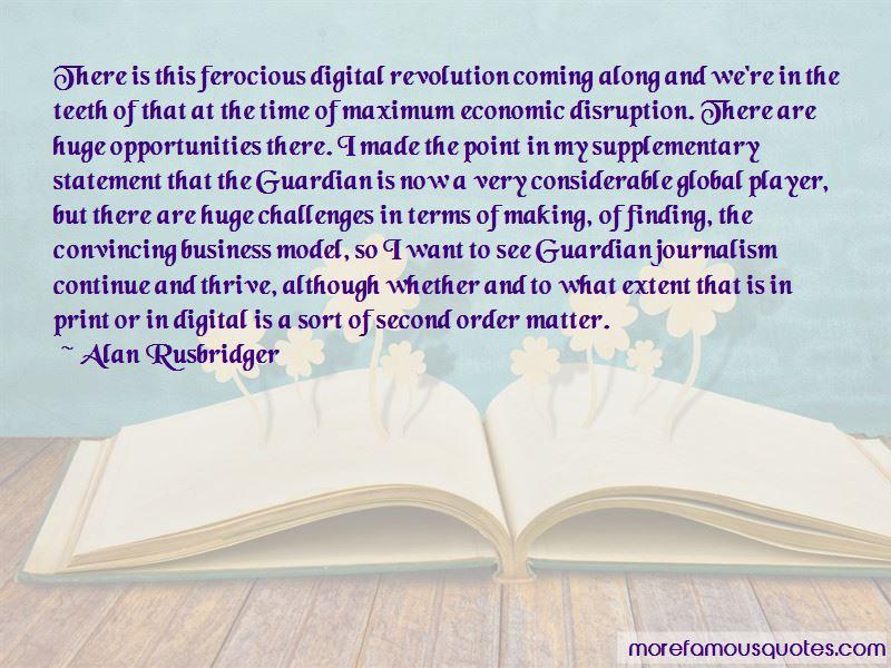 Alan Rusbridger Quotes