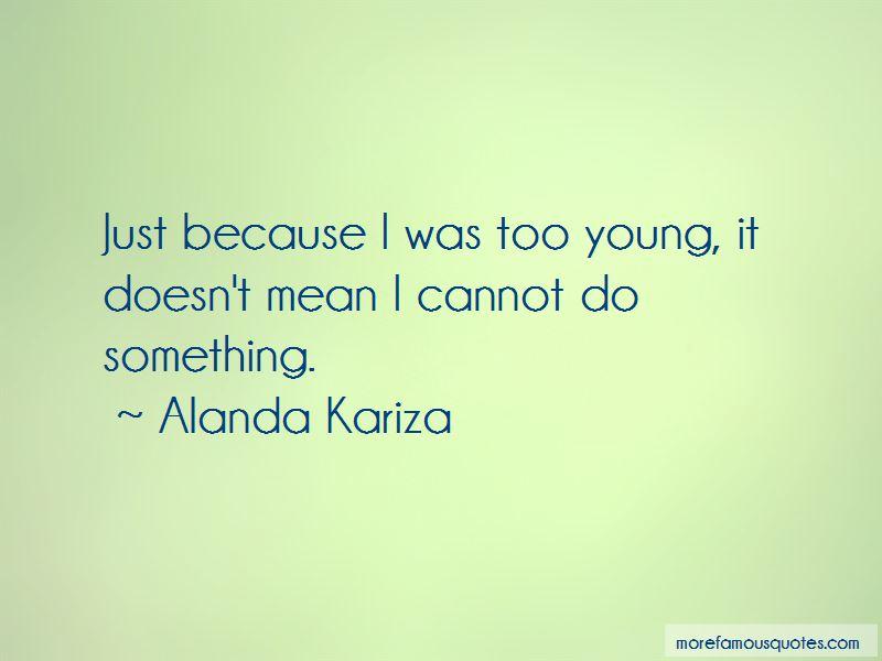 Alanda Kariza Quotes