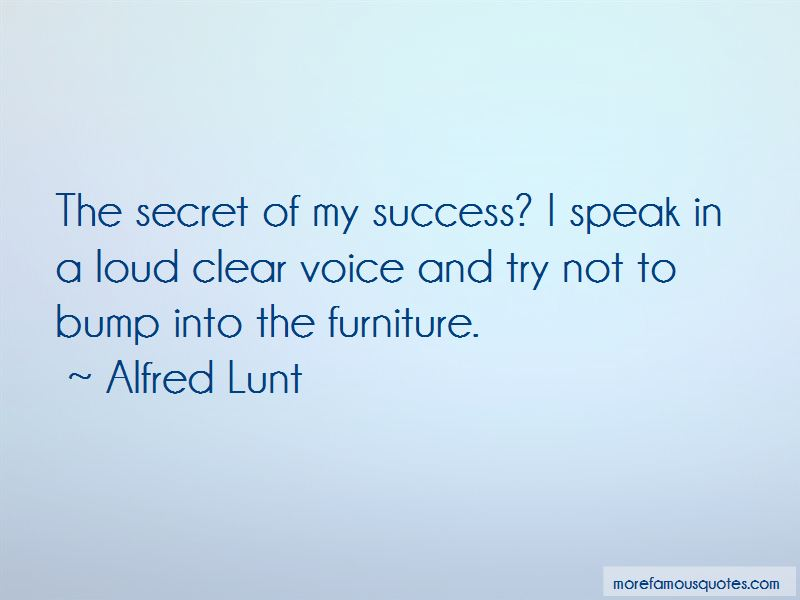 Alfred Lunt Quotes Pictures 3
